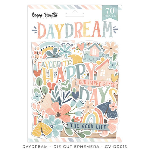 Die Cut Ephemera Day Dream Cocoa Vanilla