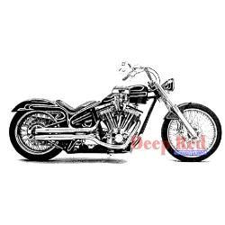Motorcycle - Deep Red