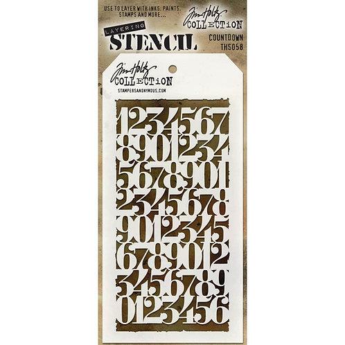 Countdown Stencil - 1 Tim Holtz