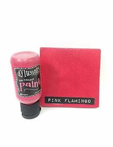 Pink Flamingo Dylusions Paint