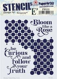 Bloom Like A Rose Stencil