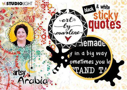 Art by Marlene Sticker Pad Quotes