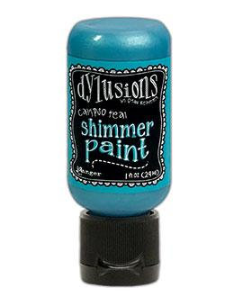 Dylusions Calypso Teal Shimmer Paint