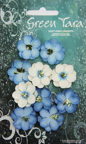 GREEN TARA CHERRY BLOSSOMS BLUE