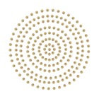 2mm Deep Gold Adhesive Pearls