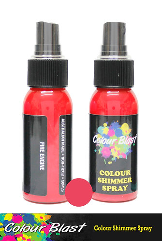 Fire Engine Shimmer Spray - Colour Blast