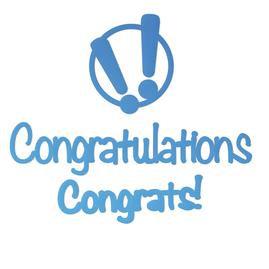 Congrats! Mini Die