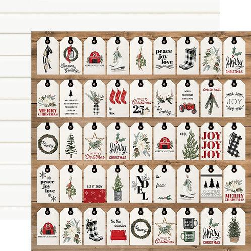 Gift Tags 12 x 12 Farmhouse Christmas