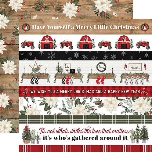 Border Strips 12 x 12 Farmhouse Christmas