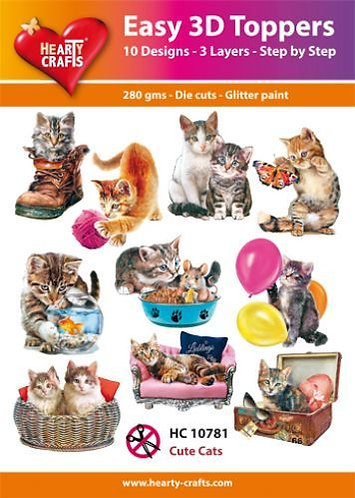 Cute Cats 3DToppers