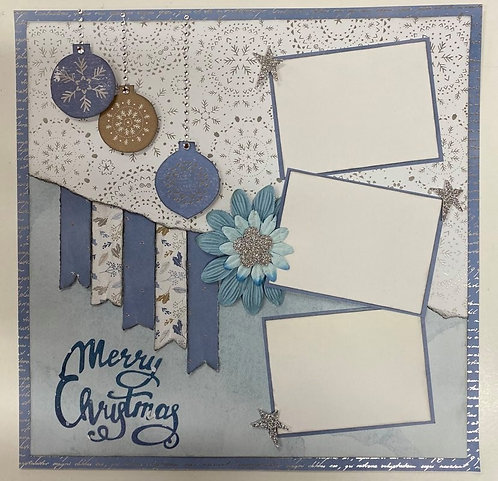Merry Christmas12 x 12 Layout Kit