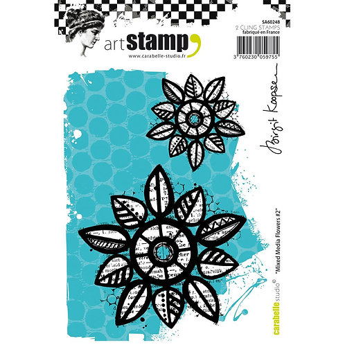 Mixed Media Flowers #2 - Art Stamp