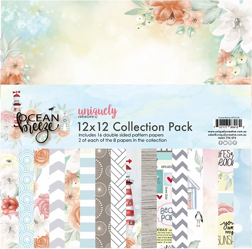 Ocean Breeze 12 x 12 Paper Pack