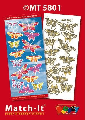 Butterflies Match-it Stickers