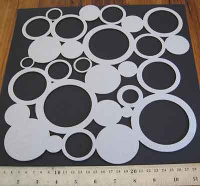Small Crazy Circle Panel