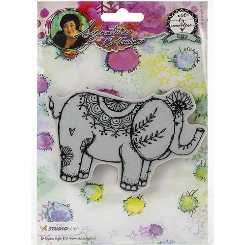 Art by Marlene Elephant stamp