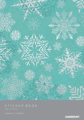 """KAISERCRAFT STICKER BOOK """"LET IT SNOW"""""""