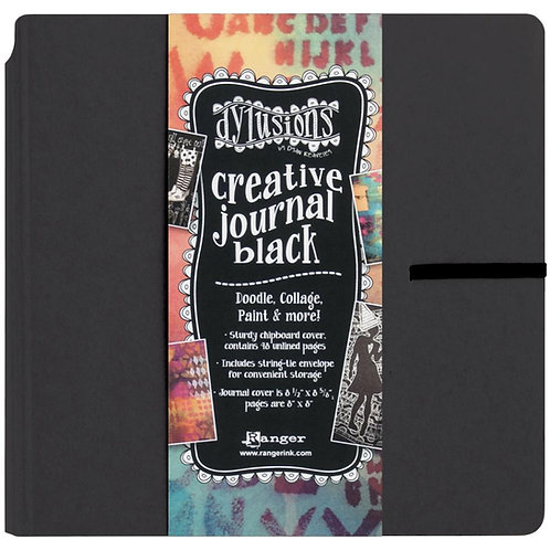 8.75 X9.0 BLACK ART JOURNAL