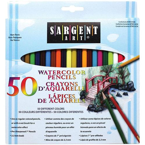 Watercolor Pencils PK50 - Sargent Art