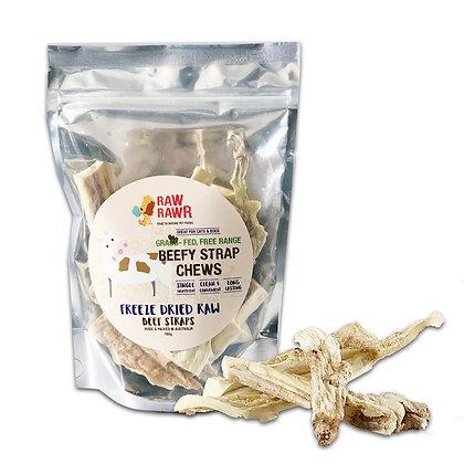 Raw Rawr Freeze Dried Beefy Strap Chews (80g)