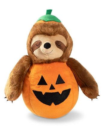 Sloth-O-Lantern Dog Squeaky Plush Toy