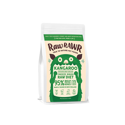 Raw Rawr Freeze Dried Raw - Kangaroo & Beef (Available in 100g & 400g)