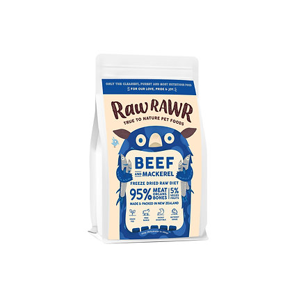 Raw Rawr Freeze Dried Raw - Beef & Mackerel (Available in 100g & 400g)