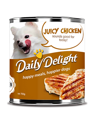 Daily Delight Can Dog Food (700g) - Choice of Chicken, Beef, Lamb
