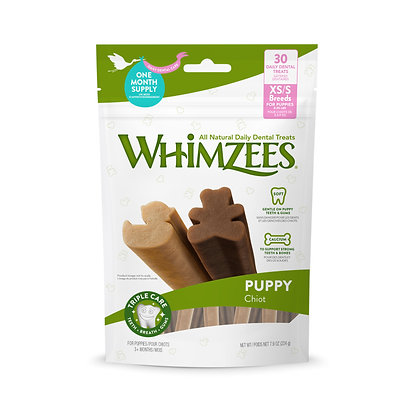 Whimzees Natural  Dog Treats - Puppy