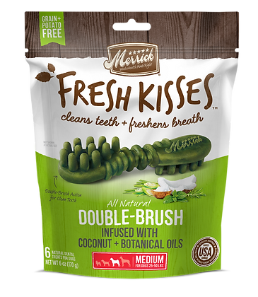 Merrick Fresh Kisses Double-Brush, Infused with Coconut & Botanical Oils