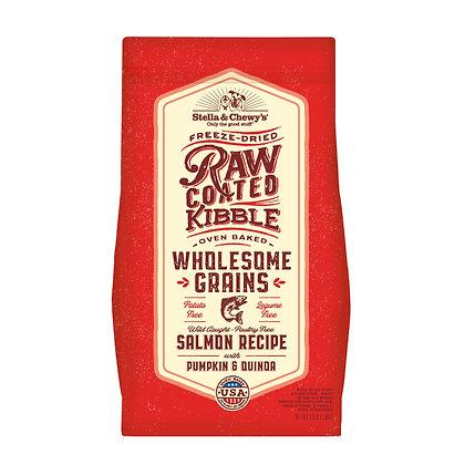 Stella & Chewy's Raw Coated Kibble Wholesome Grains -Salmon, Pumpkin, Quinoa