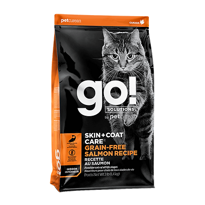 Go! Solutions Skin + Coat Care (Grain-Free Salmon Recipe) Dry Cat Food - 3lb