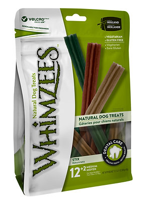 Whimzees Natural  Dog Treats - Stix Value Bag