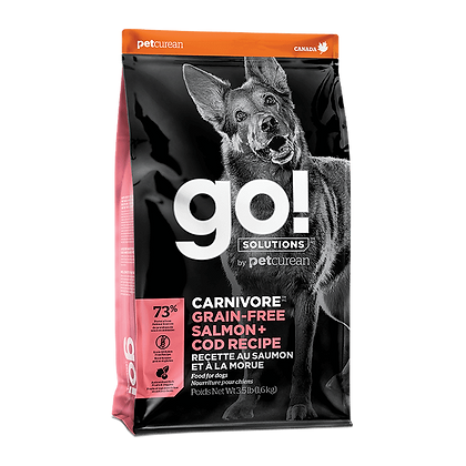 Go! Solutions Carnivore (Grain-Free Salmon, Cod) Dry Dog Food - 3.5 & 22lb