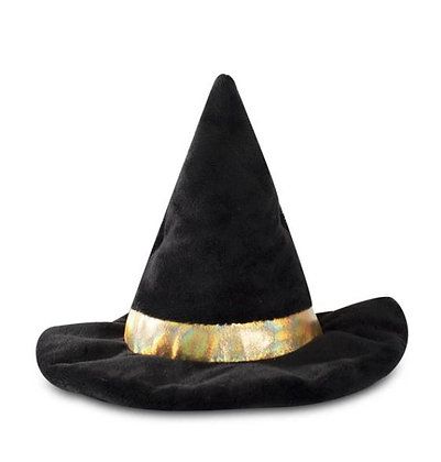 Witch Hat Dog Squeaky Plush Toy