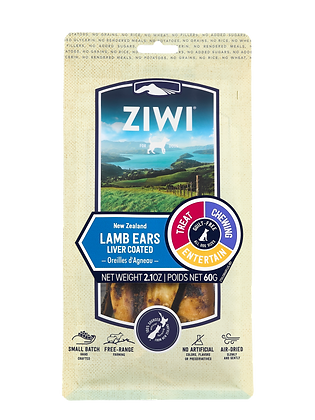 Ziwi Air-dried Dog Treats - Lamb Ears (Liver Coated)