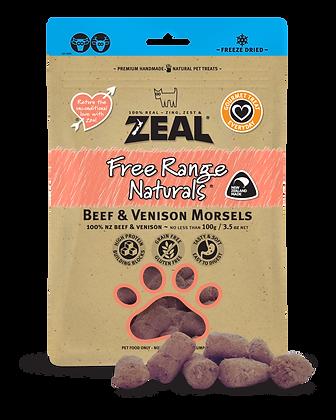 Zeal Free Range Naturals Beef & Venison Morsels (100g)