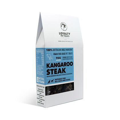 Loyalty Pet Kangaroo Steak, wild caught, hormone free (70g)