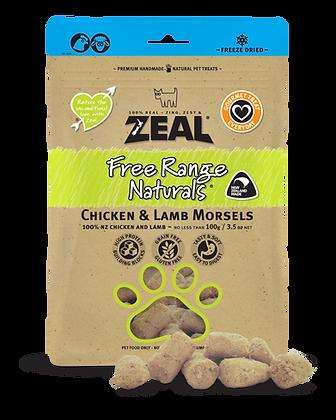 Zeal Free Range Naturals Chicken & Lamb Morsels (100g)