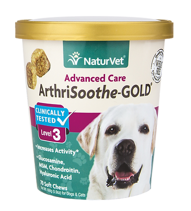 NaturVet Arthrisoothe-GOLD Level 3 (70 Soft Chews)