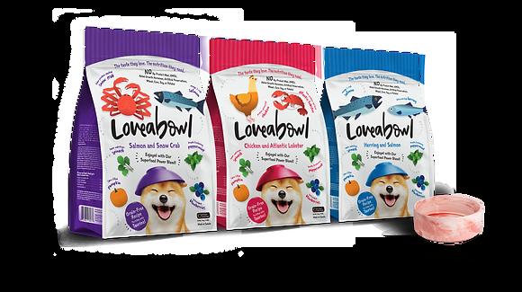 Loveabowl Sampler Bundle - 3 packs 250g + Free Bowl
