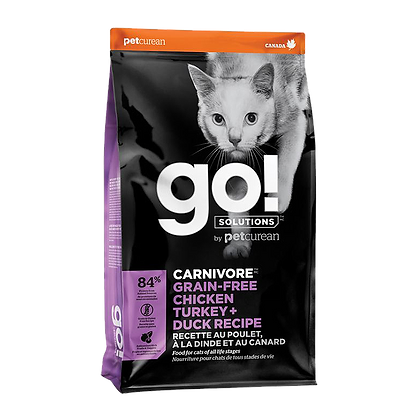 Go! Solutions Carnivore (Grain-Free Chicken, Turkey, Duck) Dry Cat Food