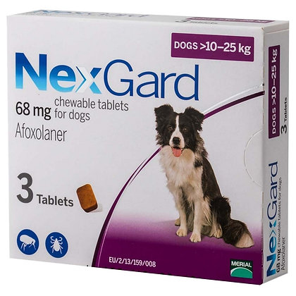 Nexgard Chewable Tablets for Small Dogs 10-25kg (68mg)