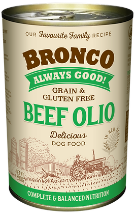 Bronco Beef Olio Dog Wet Food 390g (12 cans)