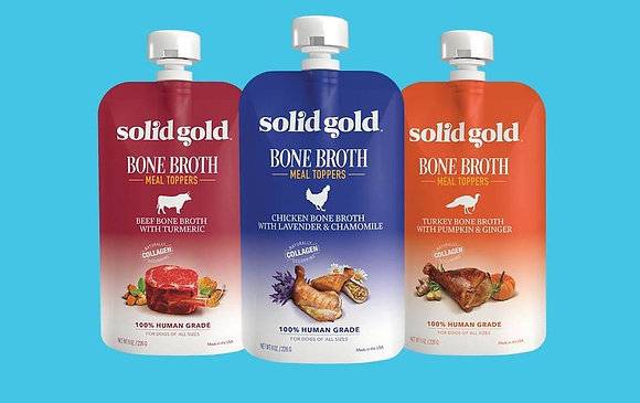 Solid Gold Bone Broth Meal Toppers 8oz