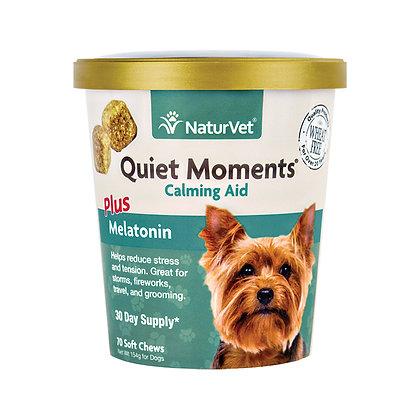 NaturVet Quiet Moments® Calming Aid Plus Melatonin (180 Soft Chews)