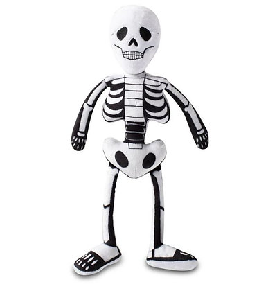 Mr Bones Dog Squeaky Plush Toy