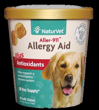 NaturVet Aller-911® Allergy Aid Plus Antioxidants (70 Soft Chews)