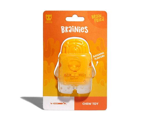 Zee.Dog Brainies Hard Chew Toy - Banana/Bacon/Mint Flavours
