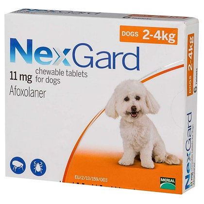 Nexgard Chewable Tablets for Small Dogs 2-4kg (11mg)